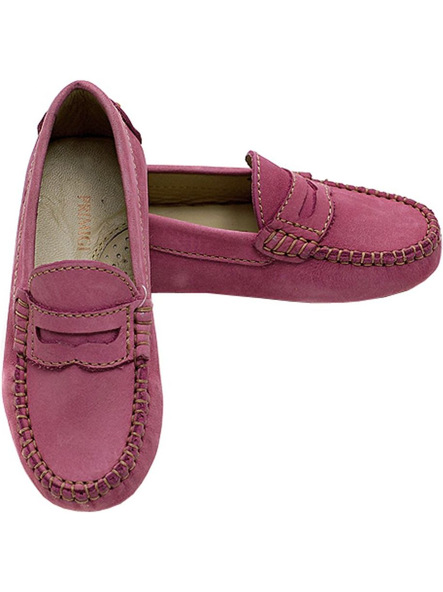 Primigi Pink Contrast Stitch Driving Shoes Girls 3 by Primigi