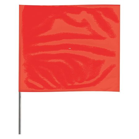 Value Brand Marking Flag, Red, 3JUU9