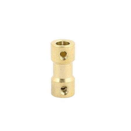 2mmx5mm Brass Shaft Coupling Coupler Motor Transmission Motor Connector ()