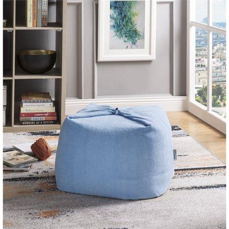 Prime Magic Pouf Blue Beanbag Microplush 3 In 1 Ottoman Chair Pillow Pdpeps Interior Chair Design Pdpepsorg