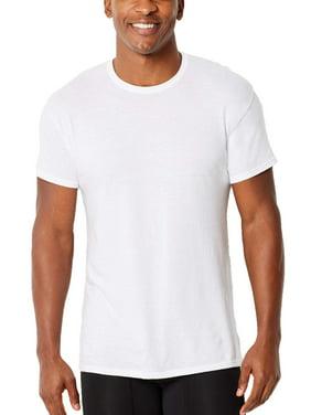 cecfd284 Product Image Big Mens ComfortFlex Fit White Crew T-Shirt, 3 Pack, 2XL