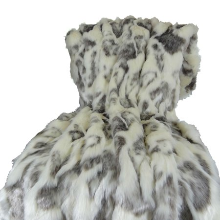 Handmade Rabbit (Plutus Ivory Rabbit Fur Handmade Throw )