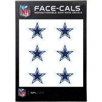 Dallas Cowboys 6-Pack Mini-Cals Face Decals - No Size