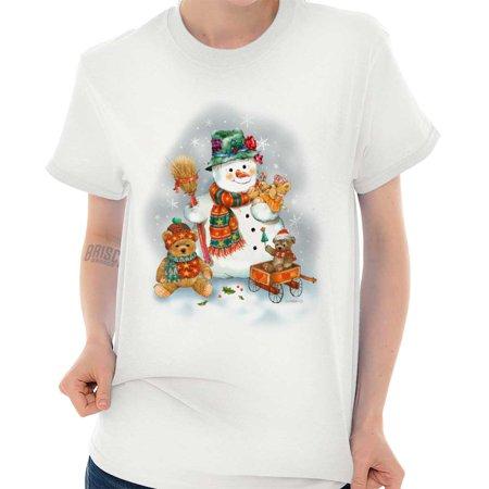 Very Cute Snowman (Snowman Teddy Bears Cute Christmas Holiday T Shirt Tee)
