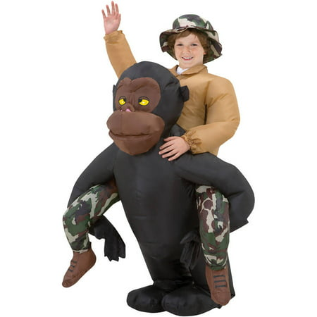 Riding Gorilla Kids Inflatable Boys Child Halloween Costume, One Size for $<!---->