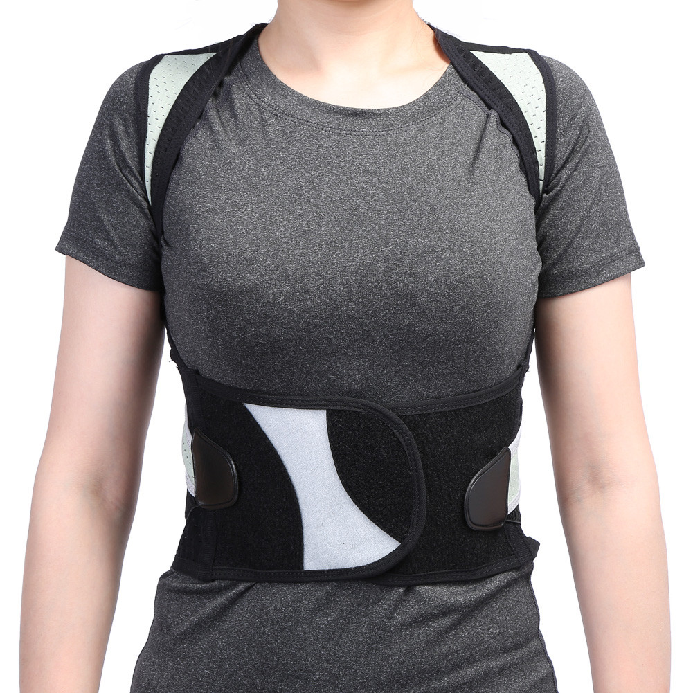 Shoulder Back Support Brace Super Breathable Mesh Panels Adjustable Posture Corrector Belt for Adult Children