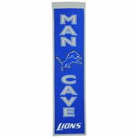 """Detroit Lions 8"""" x 32"""" Man Cave Banner - No Size"""