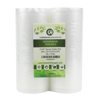 """2 Large 8"""" x 50' Vacuum Saver Rolls Commercial Grade Food Sealer Bags by Commercial Bargains"""