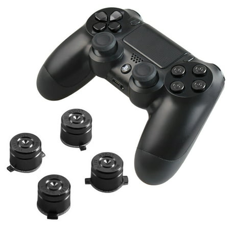 Aluminum Custom Metal DualShock 4 Bullet Buttons Playstation 4 Replacement Spare Parts Accessories-Black