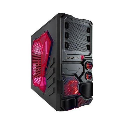 Apevia X-Sniper2-RD Red Metal Mid Tower / Chassis Computer Case w/ Side Window