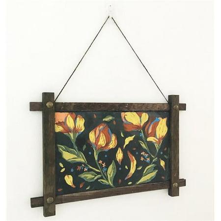 VersaChalk Wood Framed Magnetic Chalkboard Sign, 15