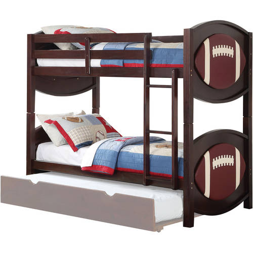 Acme All Star Football Twin Over Twin Bunk Bed With Trundle