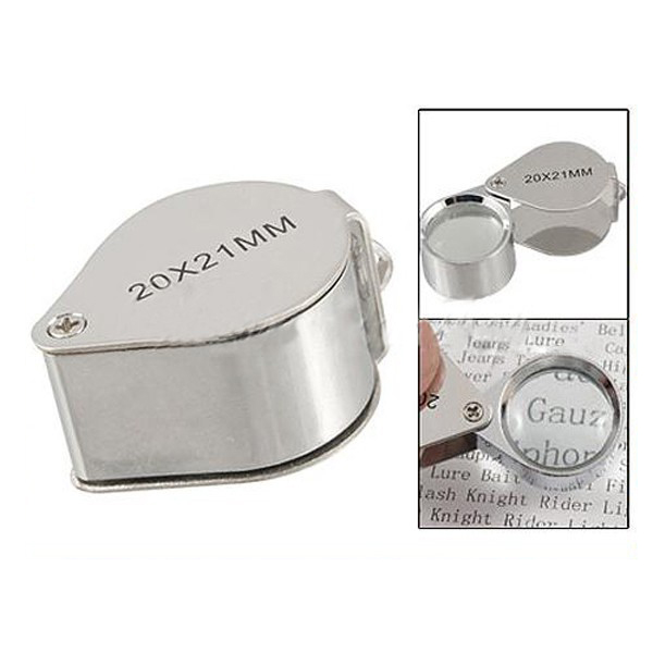 20X 21Mm Magnifying Magnifier Glass Jewellers Eye Foldable Jewelry Loop Loupe