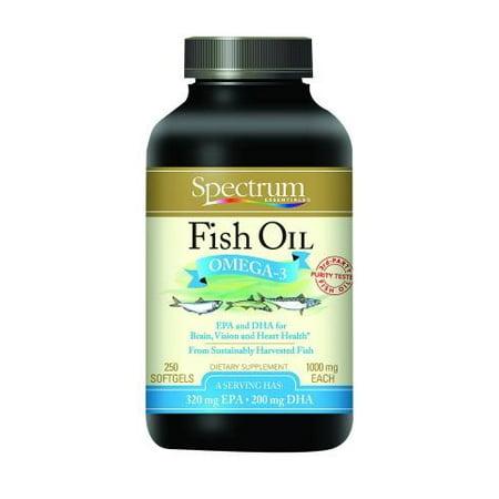 Spectrum Essentials Fish Oil Omega-3 - 1000mg - 250 Softgels