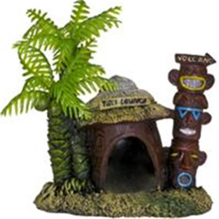 Exotic Environments Betta Hut With Palm Tree - image 1 of 1
