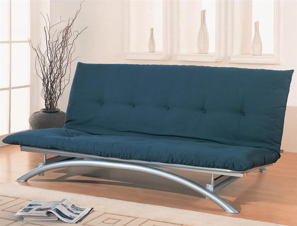 Coaster Metal Futon Frame in Silver by Coaster Co. of America