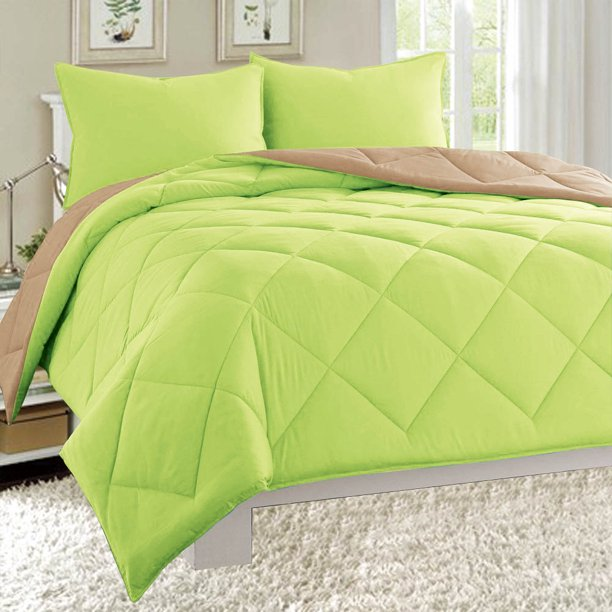 Dayton King Size 3 Piece Reversible Comforter Set Soft Brushed