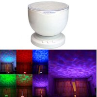 12 Hhotsales LED MP3 Phone Speaker Multicolor Ocean Wave Light Projector Hhotsales LED Night Light