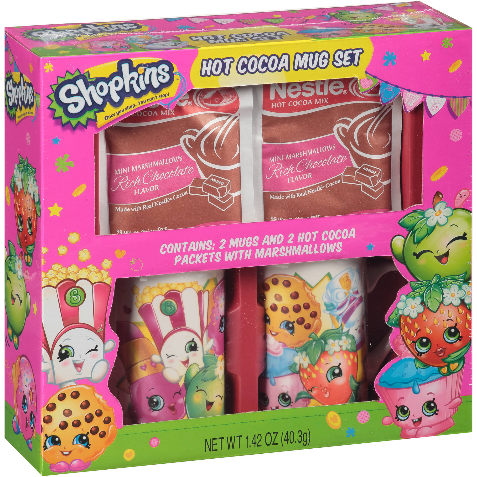 Shopkins Hot Cocoa Mug Set, 4 pc