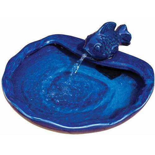 Smart Solar Blue Ceramic Solar Koi Fountain
