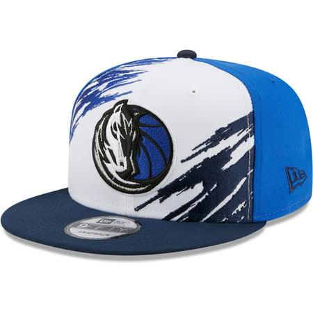 Dallas Mavericks New Era Splatter 9FIFTY Snapback Hat - White/Navy - OSFA