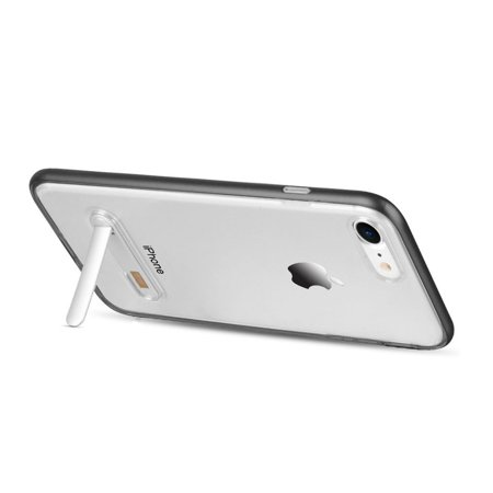 Insten Shockproof Dual Layer Hybrid Stand PC/TPU Rubber Case Cover For Apple iPhone 7/8 - Clear/Black (Bundle with MFI Lightning cable) - image 3 de 3