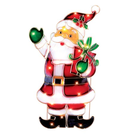 light up santa outdoor christmas decoration