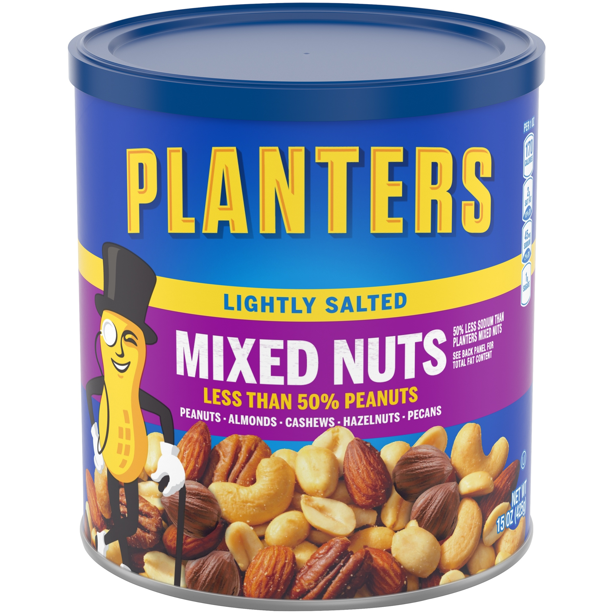 Planters Lightly Salted Mixed Nuts 15 oz. Canister