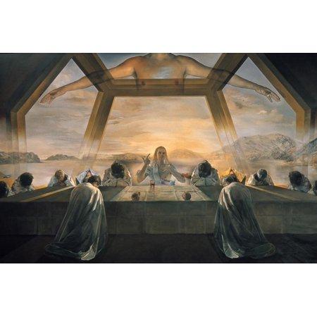 Dali: Last Supper, 1955 Jesus Christ Bible Christian Art Print Wall Art By Salvador
