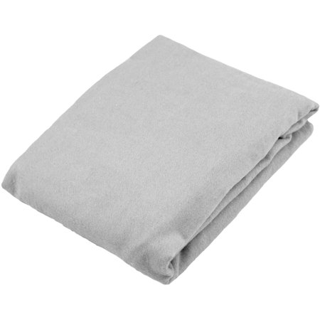 Kushies Bassinet Fitted Flannel Sheet, Grey