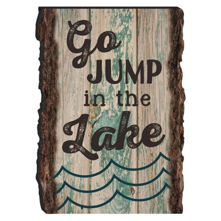 GO JUMP IN THE LAKE Wooden Barky Magnet, 3.5