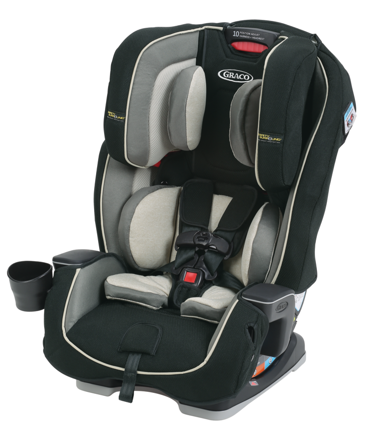 Graco Milestone 3-in-1 Convertible Car Seat featuring Safety Surround, Cyrus by Graco