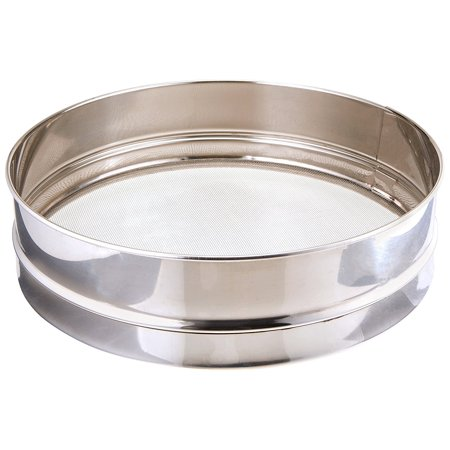 Winco Stainless Steel Rim Sieve With Mesh 10 Inch