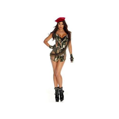 Army Strip Soldier Costume 553430 Forplay Camouflage