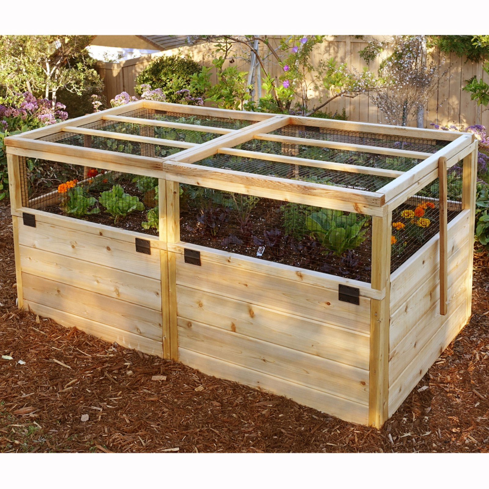 Outdoor Living Today Raised Cedar Garden Bed with Trellis/Lid - 6 x 3 ft.