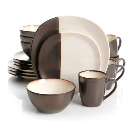 Gibson Volterra 16pc Dinnerware Set - Cream Dinnerware Set Cream
