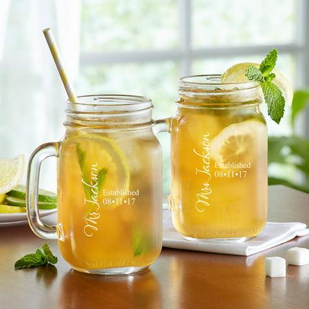 Personalized Established Mason (Personalized Drinking Glass)
