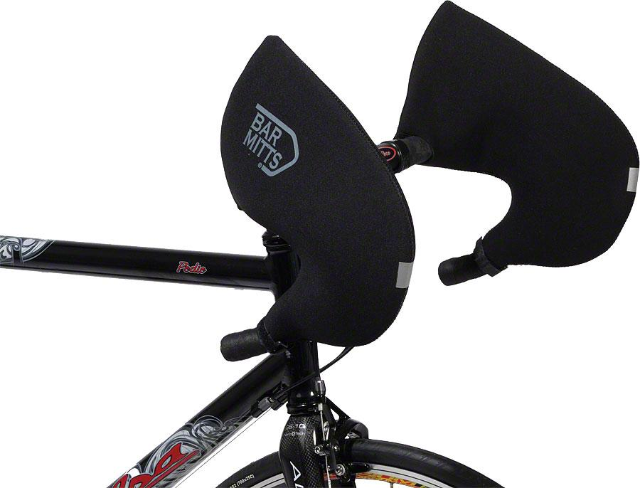 Bar Mitts Road Pogie Handlebar Mittens: Internally Routed Campagnolo SRAM Shimano SM Black by Bar Mitts