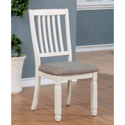 Furniture of America Rachel I Rustic Padded Dining Chairs - Set of 2, White