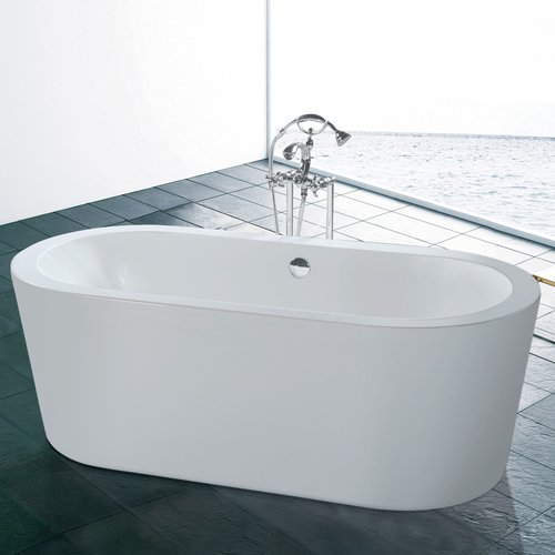 Maykke Harrow 66.19'' x 30.75'' Freestanding Soaking Bathtub