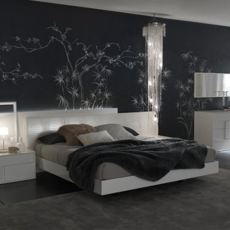 Rossetto Nightfly White Platform Bed 688 Product Photo
