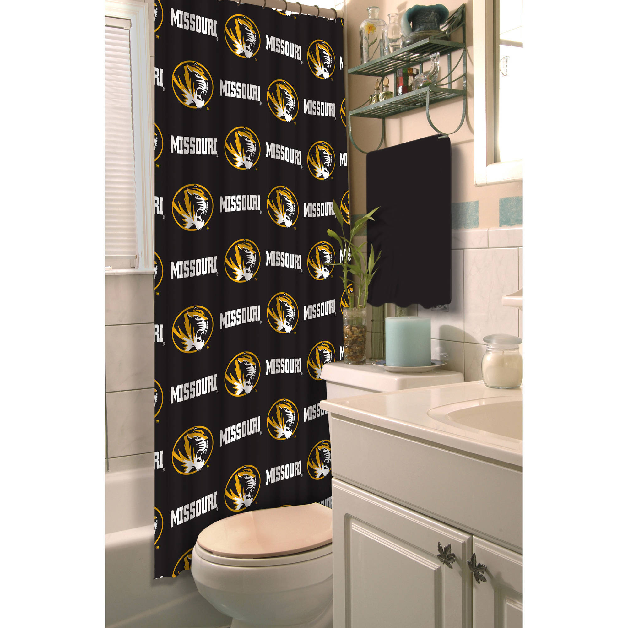 NCAA University of Missouri Decorative Bath Collection - Shower Curtain