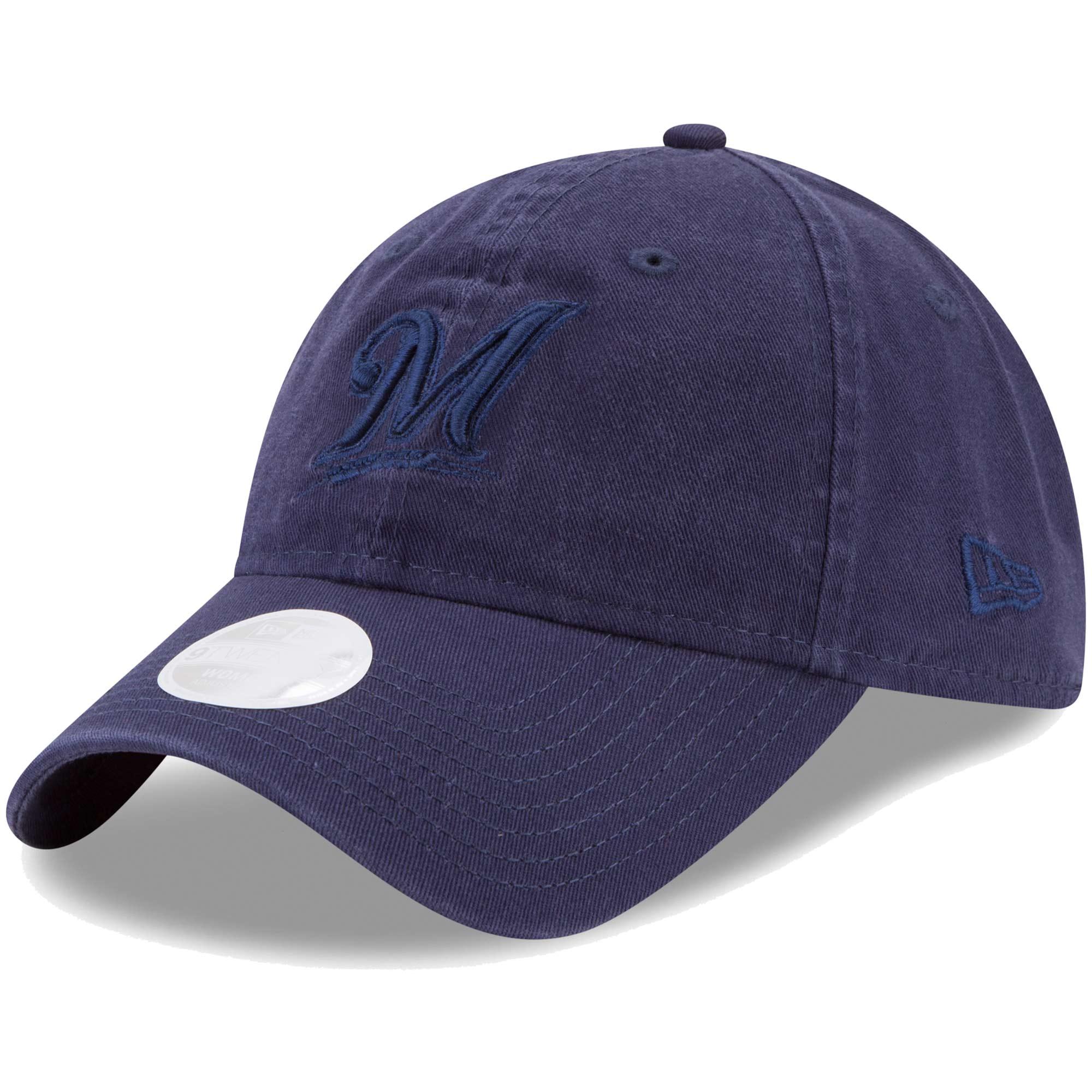 Milwaukee Brewers New Era Women's Preferred Pick Tonal 9TWENTY Adjustable Hat - Navy - OSFA