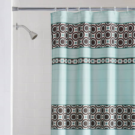Mainstays Dimitri Fabric Shower Curtain Blue
