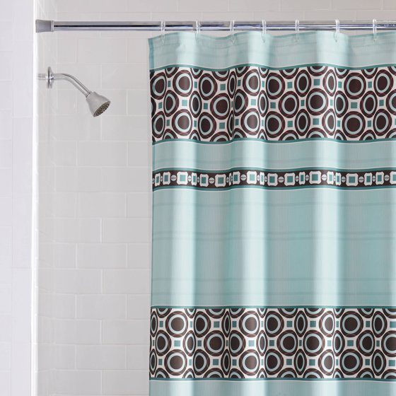 Mainstays Dimitri Fabric Shower Curtain, Blue