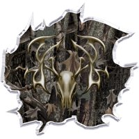 Camouflage Deer Hunting Edible Icing Image for 8 inch round cake