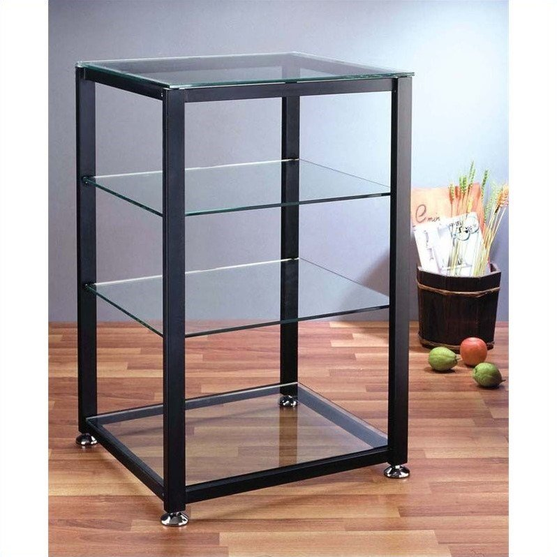 VTI EGR404 4 Shelf Black Audio Cabinet/Rack