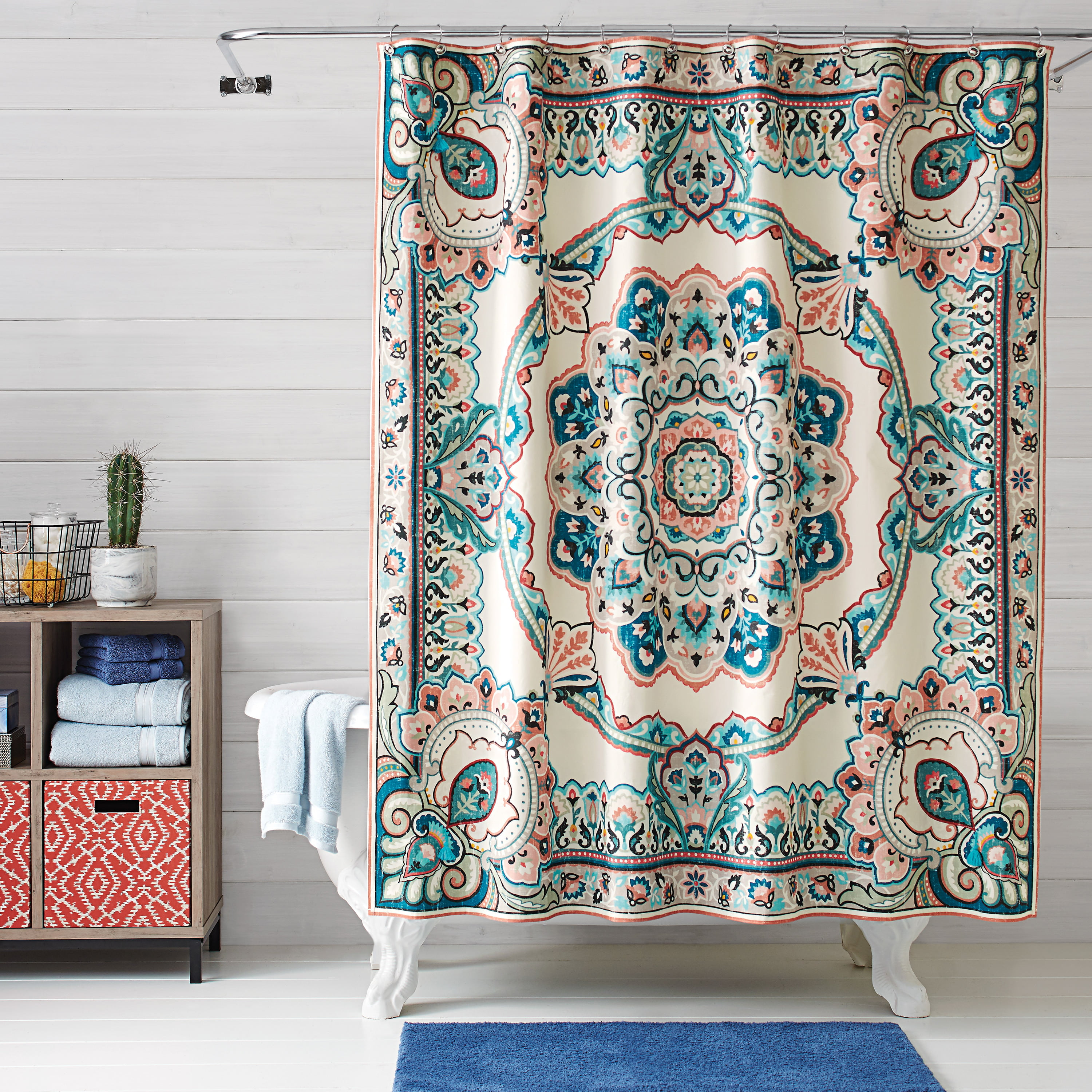 Better homes and gardens scarf medallion shower curtain - Better homes and gardens shower curtains ...