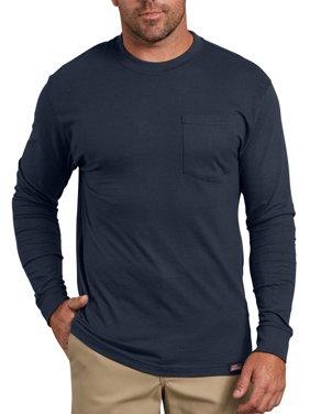 Genuine Dickies Men's Long Sleeve Heavy Weight Pocket T-Shirt, 2-Pack