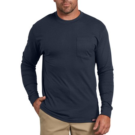 Pocket Sleeves (Men's Long Sleeve Heavy Weight Pocket T-Shirt,)